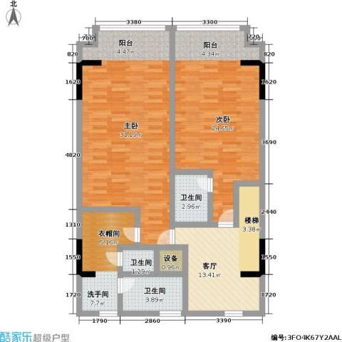 漕湖之星2室1厅3卫0厨100.00㎡户型图