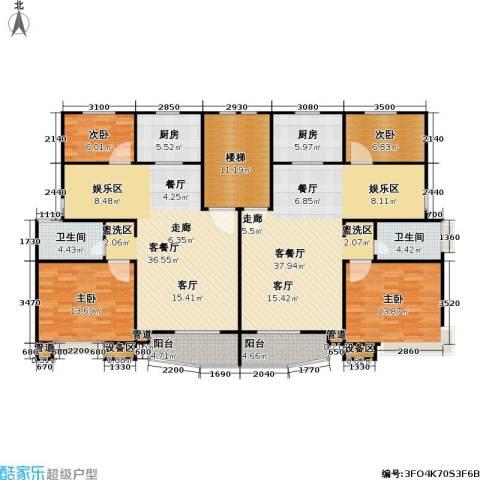 万兆家园四期4室2厅2卫2厨157.75㎡户型图