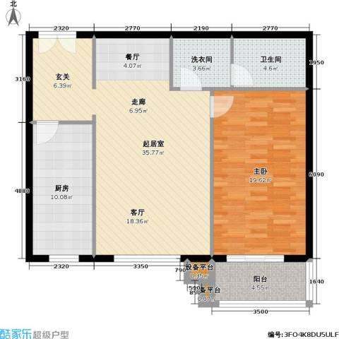 龙岳洲大厦1室0厅1卫1厨88.00㎡户型图