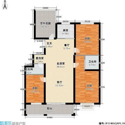 永福苑3室0厅2卫1厨159.00㎡户型图