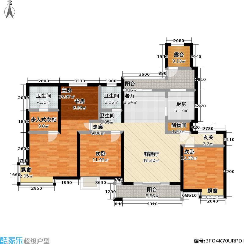 联洋丁香苑149.41㎡房型: 四房; 面积段: 149.41 -188 平方米; 户型