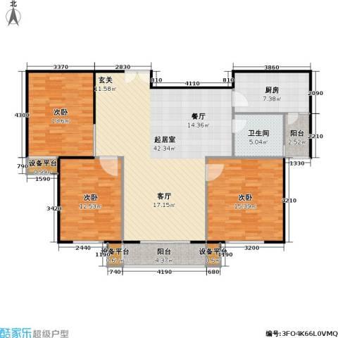 嘉宏盛世3室0厅1卫1厨113.00㎡户型图