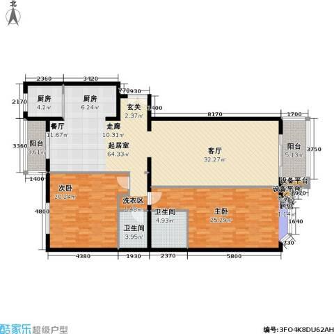 龙岳洲大厦2室0厅2卫1厨147.00㎡户型图
