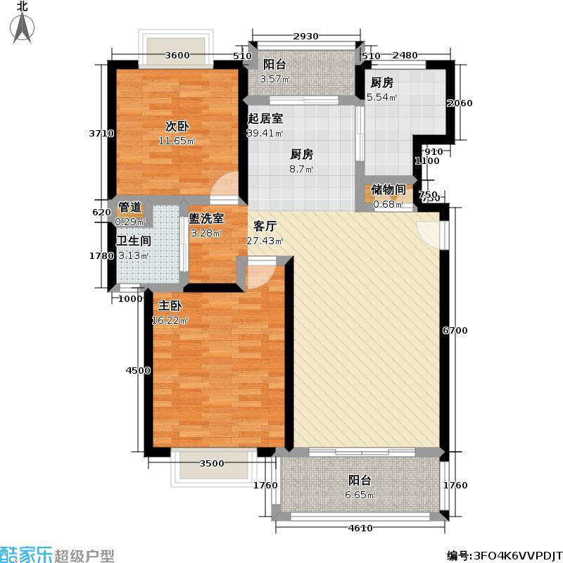 幸福春天100.00㎡房型: 二房; 面积段: 100 -100 平方米;户型