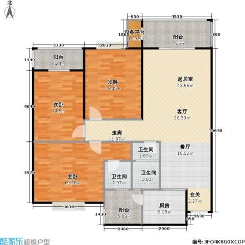 锦天・生态城3室0厅3卫1厨136.00㎡户型图