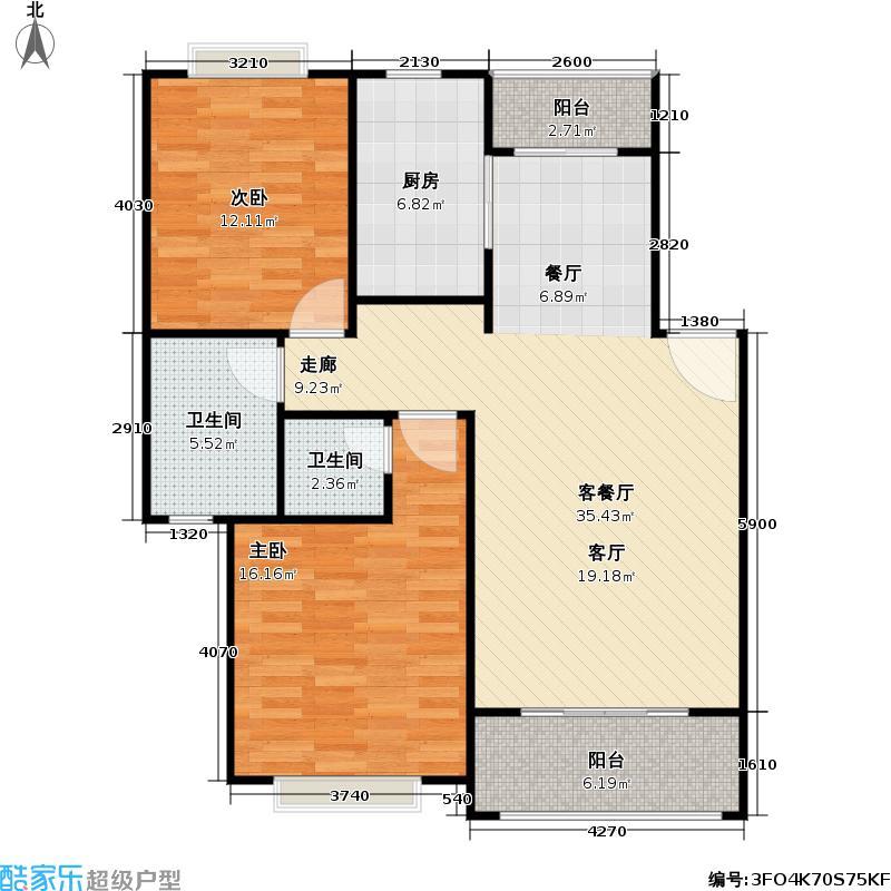 好世凤凰城一期94.00㎡房型: 二房; 面积段: 94 -102 平方米; 户型