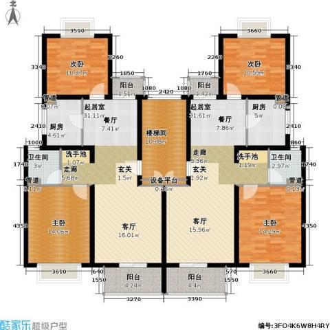 新梅共和城一期4室0厅2卫2厨150.50㎡户型图