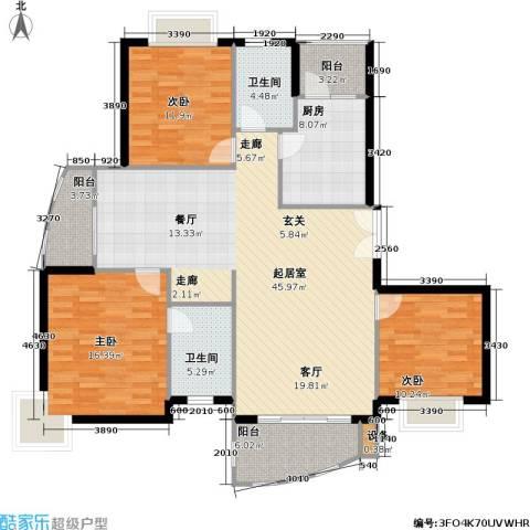 名门世家四期3室0厅2卫1厨125.00㎡户型图