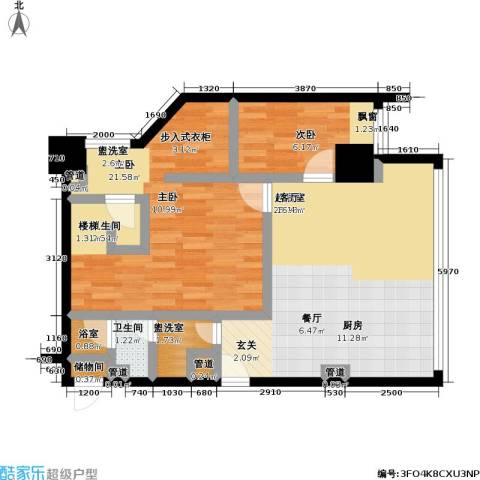 MASTER领寓2室0厅1卫0厨115.00㎡户型图