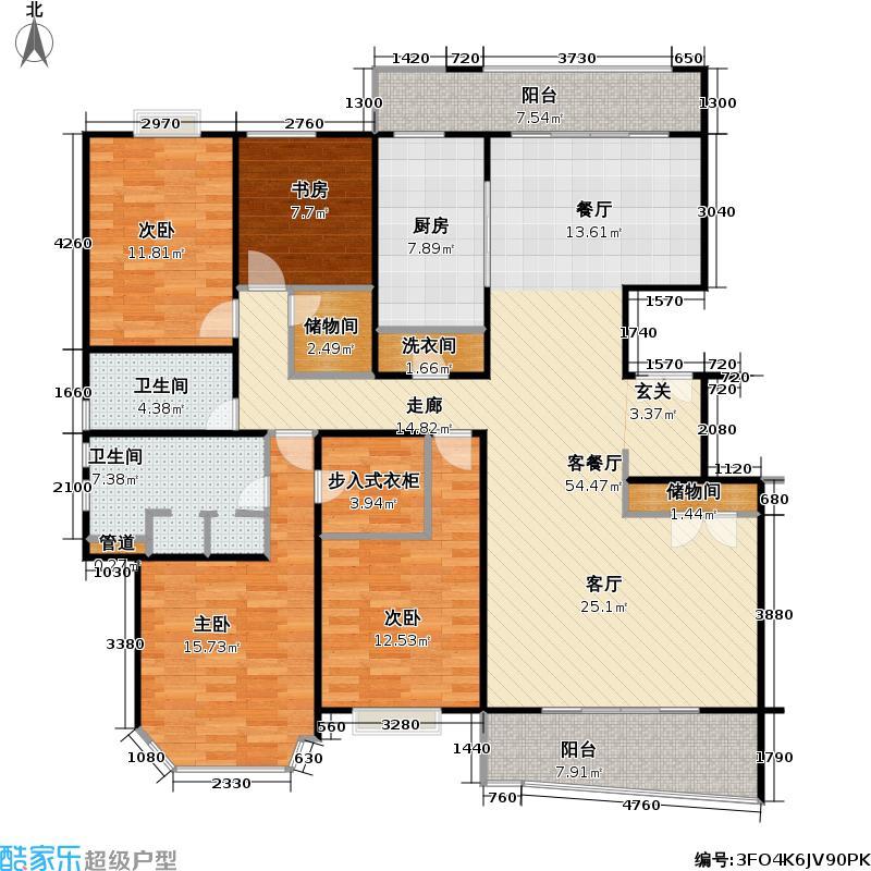 金樽花园160.00㎡房型: 四房; 面积段: 160 -380 平方米; 户型