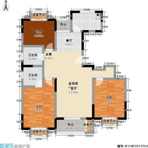浦江风景苑一期3室0厅2卫1厨154.00㎡户型图