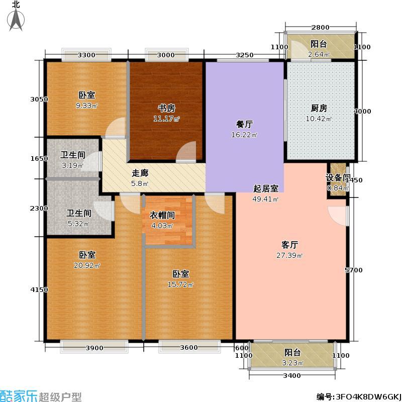 多摩市四室二厅二卫户型