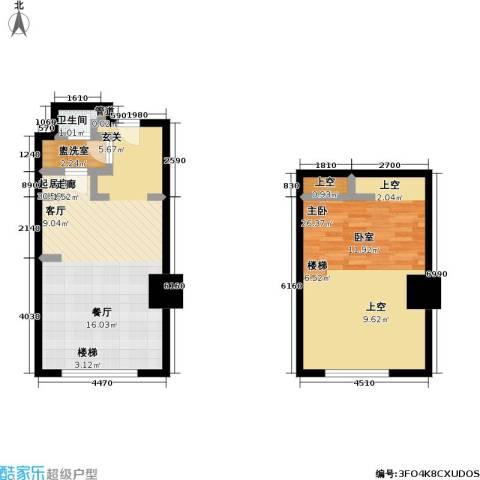 MASTER领寓1室0厅1卫0厨61.12㎡户型图