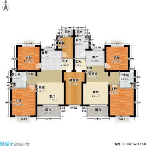 新梅共和城一期4室0厅2卫2厨150.06㎡户型图