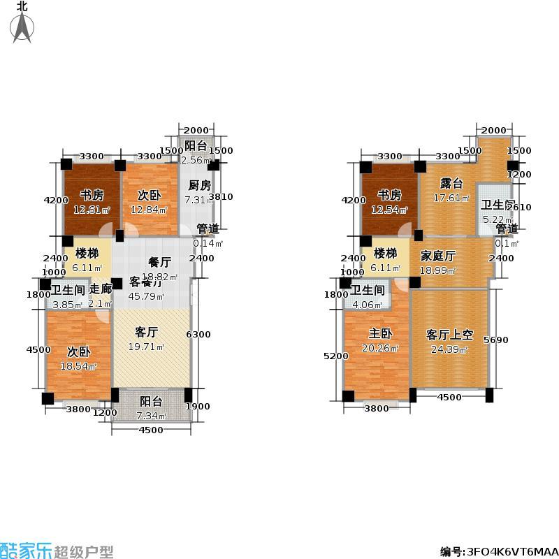 西湾金阳花园户型5室1厅3卫1厨