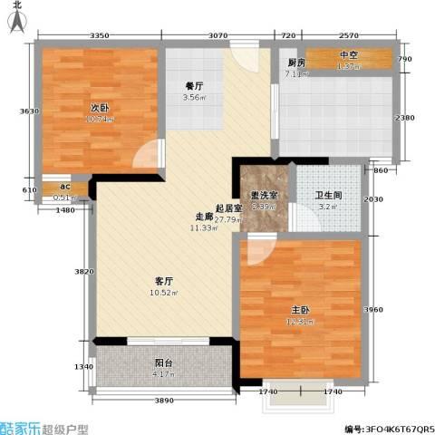 美堤雅城(一期)2室0厅1卫1厨73.00㎡户型图