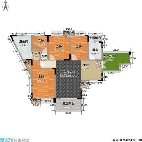 卓越美丽山水(三期)4室0厅1卫1厨150.00㎡户型图