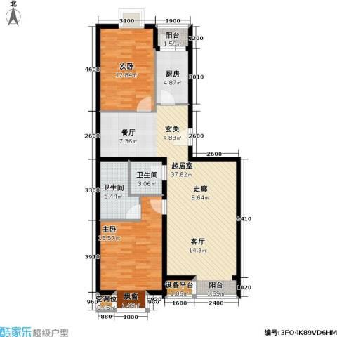 丽港・美度2室0厅2卫1厨118.00㎡户型图
