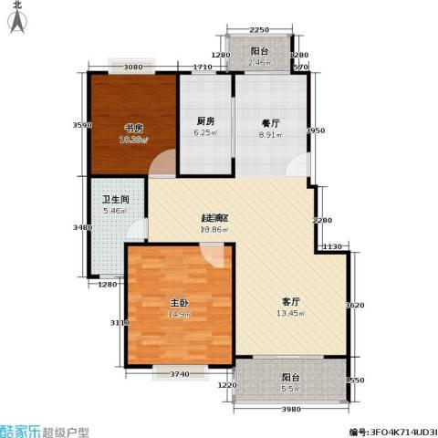 松江世纪新城2室0厅1卫1厨87.00㎡户型图
