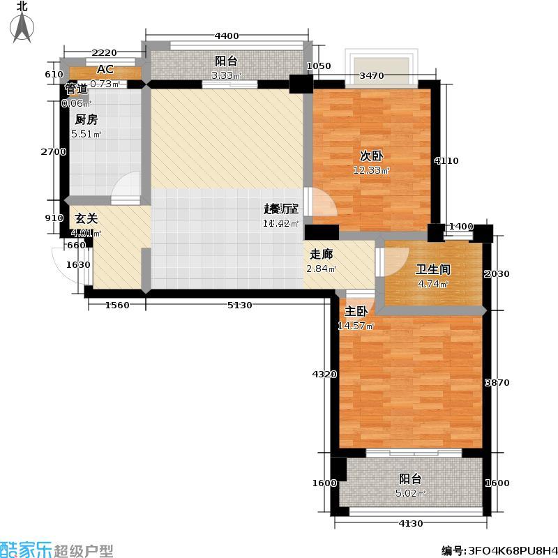 佳海歌林花园88.53㎡佳海歌林花园户型图B-1(11/13张)户型2室2厅