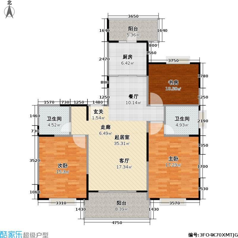 书香公寓一期116.00㎡房型: 三房; 面积段: 116 -150 平方米; 户型