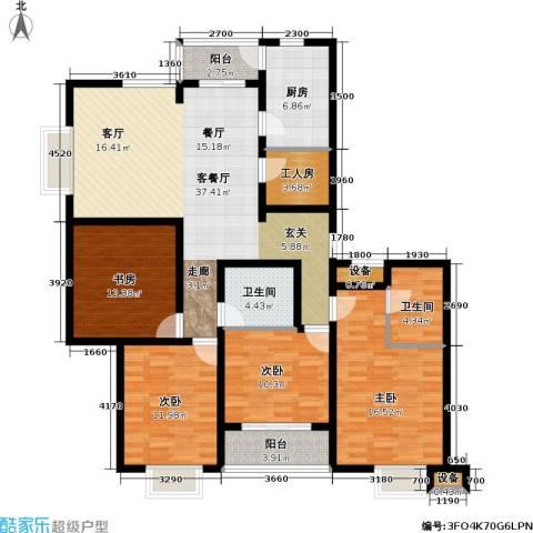 君悦・鹿城一品4室1厅2卫1厨168.00㎡户型图