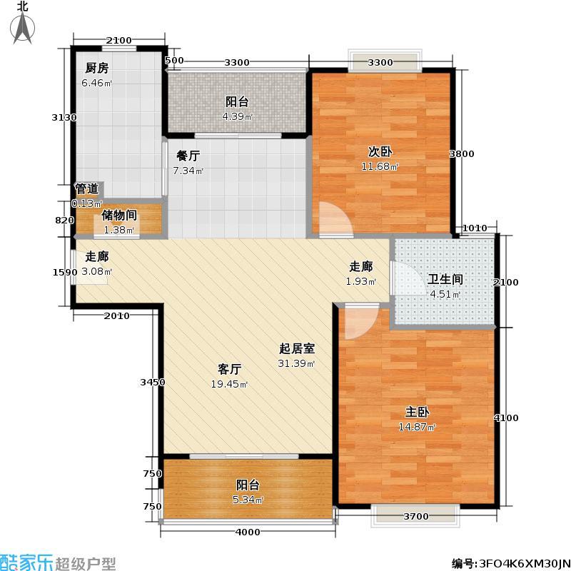 阳光建华城三期74.92㎡房型: 二房; 面积段: 74.92 -102.14 平方米; 户型