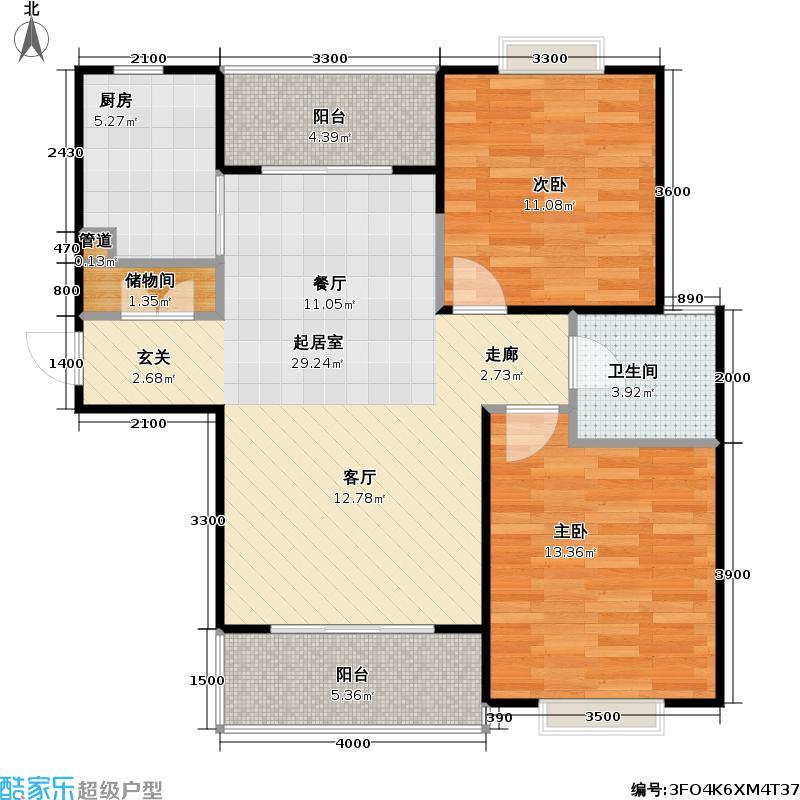 阳光建华城三期房型: 二房; 面积段: 74.92 -102.14 平方米; 户型
