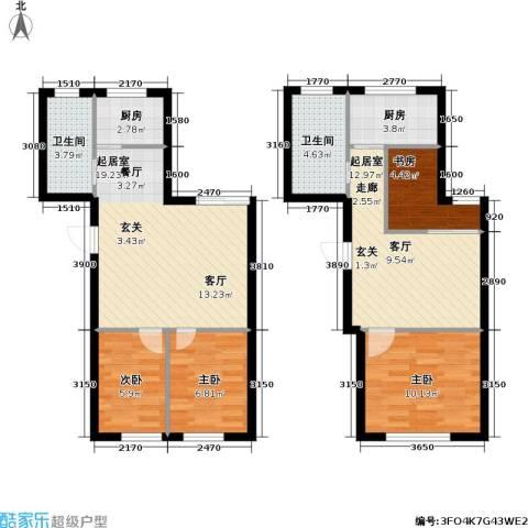 城仕晶舍4室0厅2卫2厨85.00㎡户型图