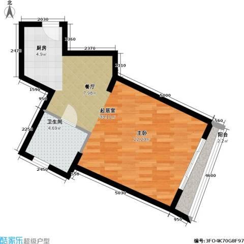 君悦・鹿城一品1卫0厨57.00㎡户型图