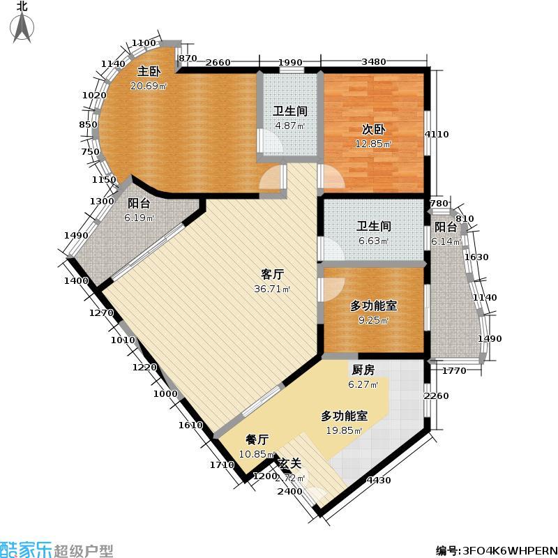 秋水云庐(一期)136.98㎡房型: 三房; 面积段: 136.98 -148 平方米; 户型