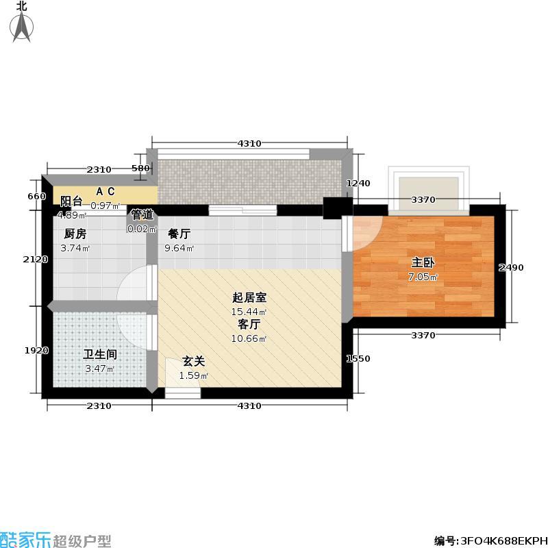 佳海歌林花园43.48㎡佳海歌林花园户型图A-8(13/13张)户型1室1厅