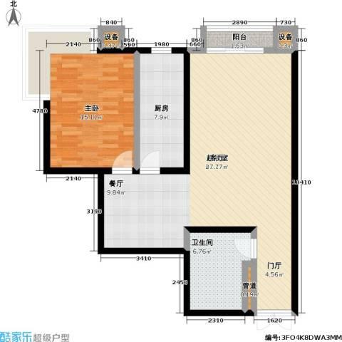 未来上层(恋日上层)1室0厅1卫1厨82.00㎡户型图