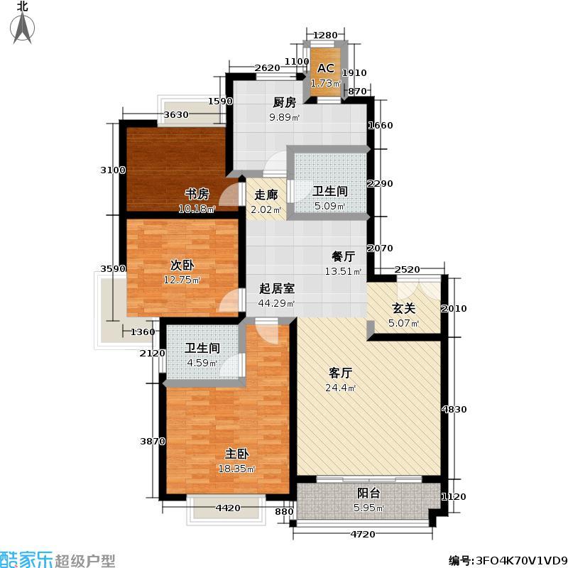 锦绣满堂花园130.00㎡房型: 三房; 面积段: 130 -162 平方米; 户型