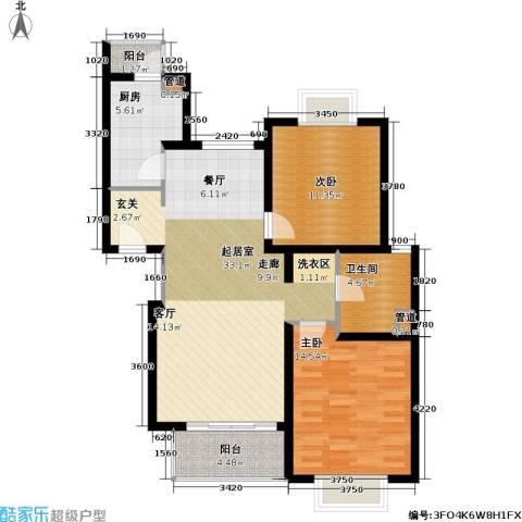 新梅共和城一期2室0厅1卫1厨108.00㎡户型图
