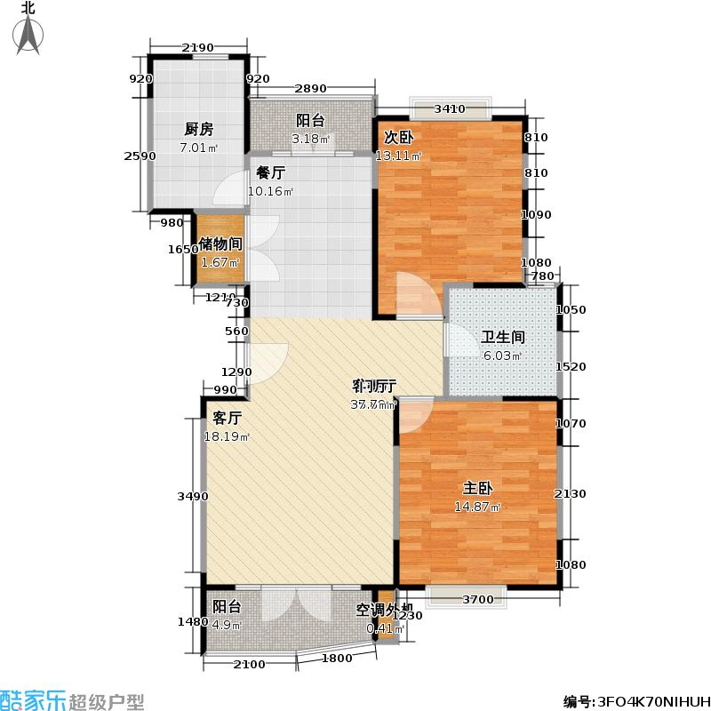 丽都康城90.00㎡房型: 二房; 面积段: 90 -100 平方米; 户型
