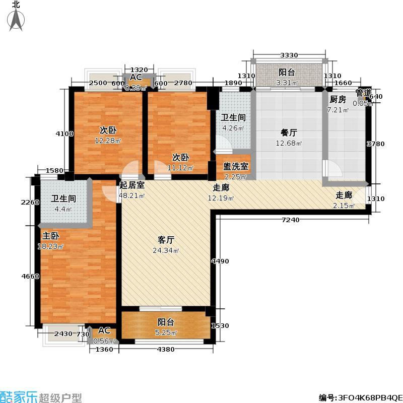 佳海歌林花园133.98㎡佳海歌林花园户型图A-2(9/13张)户型3室2厅