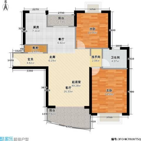名门世家四期2室0厅1卫0厨93.00㎡户型图