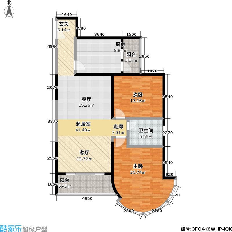 秋水云庐(一期)112.24㎡房型: 二房; 面积段: 112.24 -120 平方米; 户型