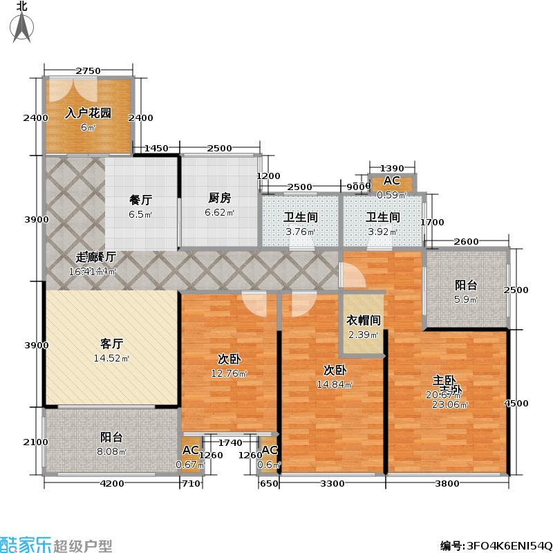 合正荣悦133.00㎡合正荣悦户型图3/4栋03户型(6/7张)户型3室2厅2卫