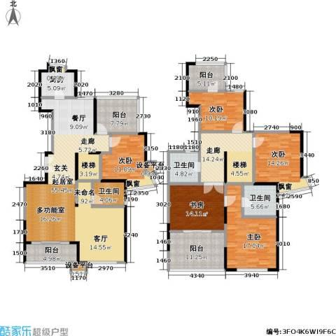 河滨围城(二期)5室0厅3卫1厨264.00㎡户型图