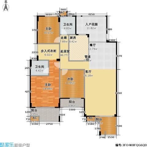 玉柴博望园3室0厅2卫1厨142.00㎡户型图