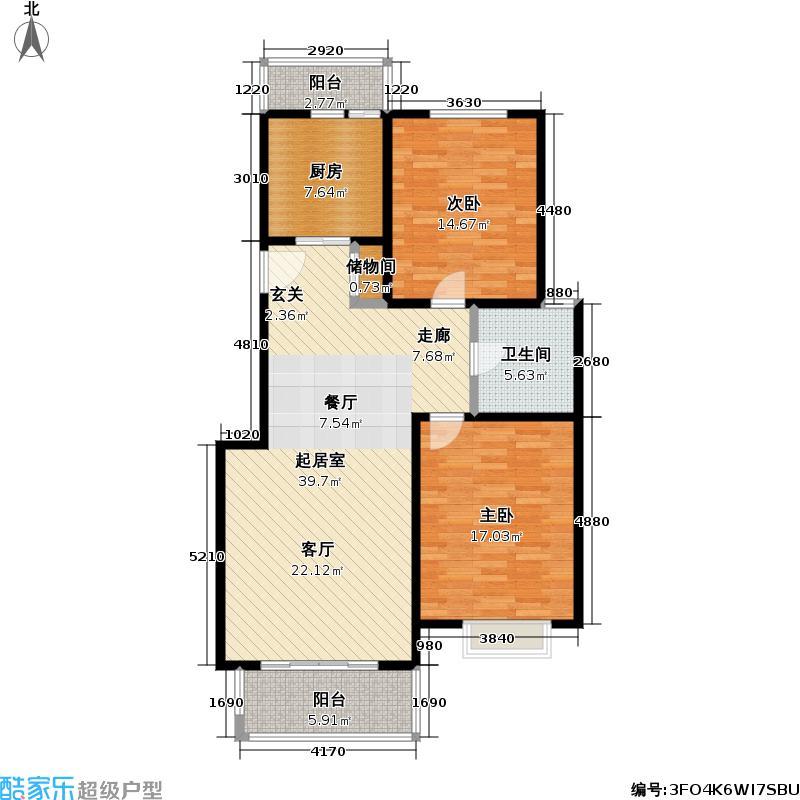 上海知音(一期)房型户型2室1卫1厨