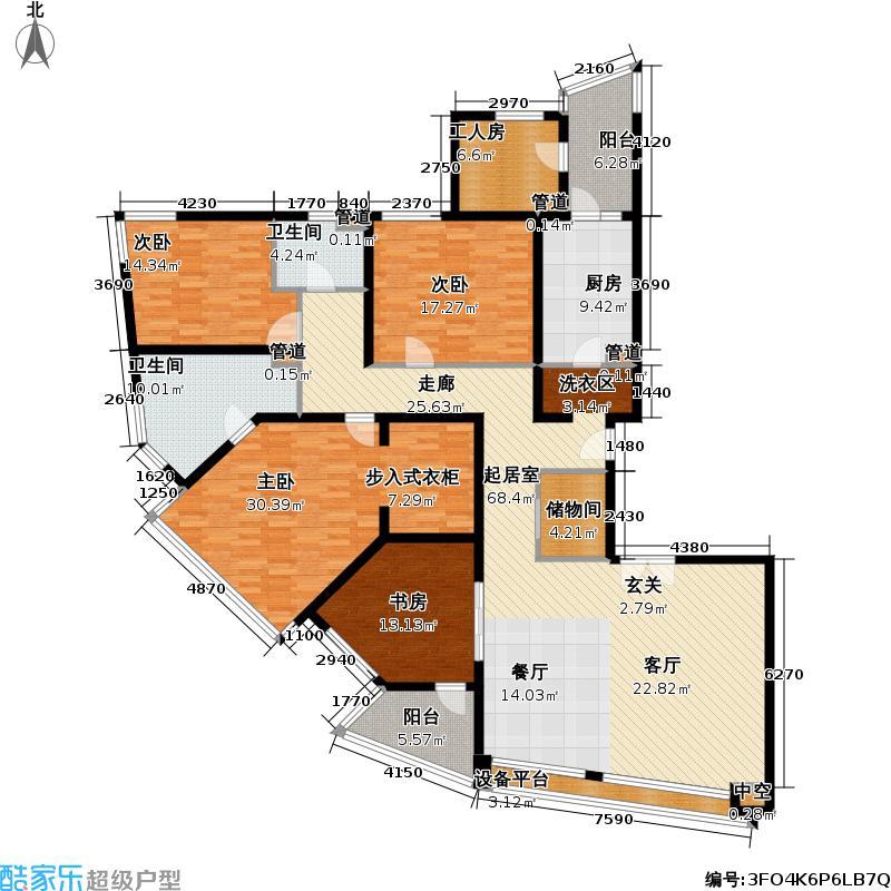 国际明佳城三期220.00㎡房型: 四房; 面积段: 220 -230 平方米;户型