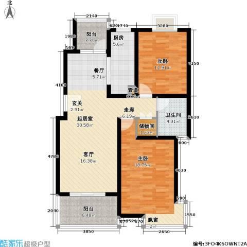 一品新筑一期2室0厅1卫1厨94.86㎡户型图