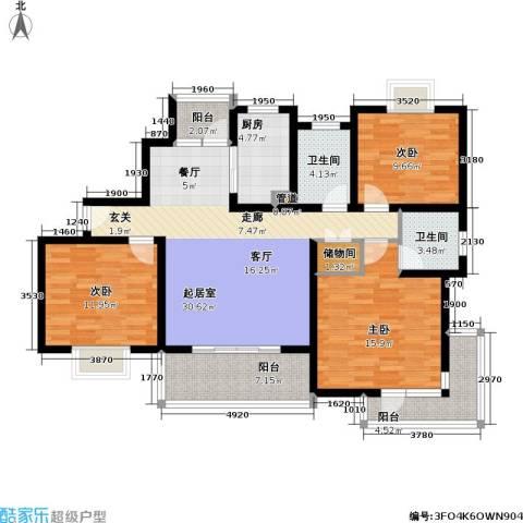 一品新筑一期3室0厅2卫1厨112.00㎡户型图