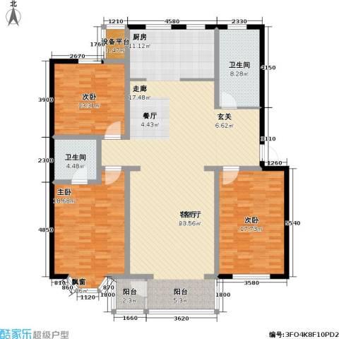 印象江南・太扬家园3室1厅2卫0厨151.00㎡户型图