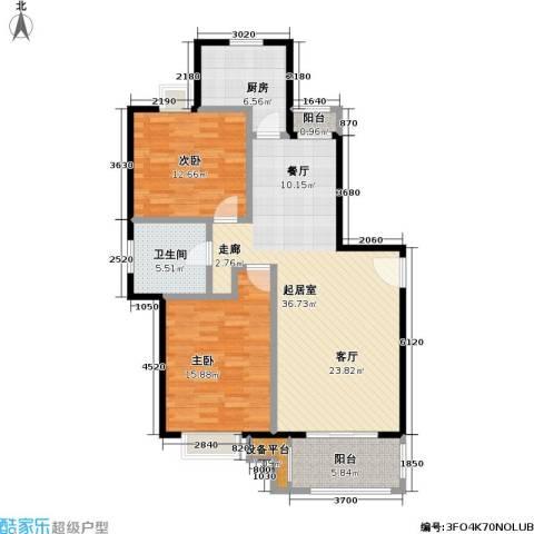 新都花园二期2室0厅1卫1厨96.00㎡户型图