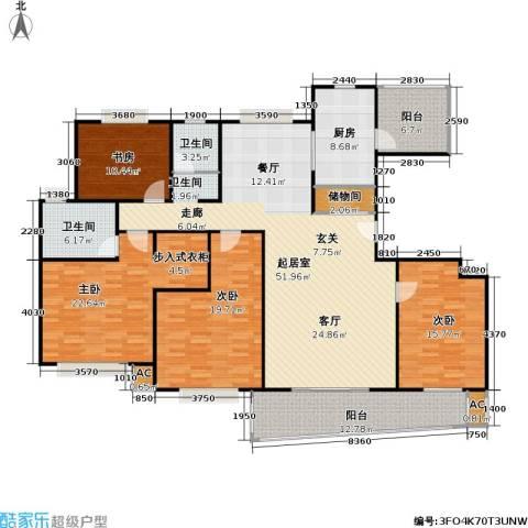 浦东虹桥公寓二期4室0厅2卫1厨177.00㎡户型图