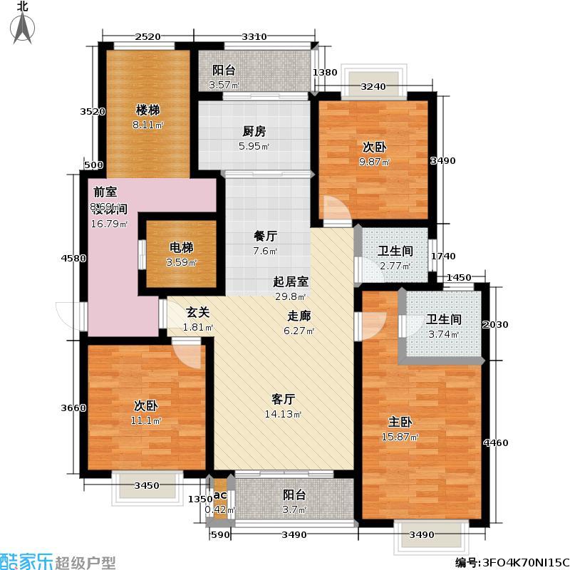 方圆公寓124.18㎡房型: 三房; 面积段: 124.18 -140.33 平方米;户型